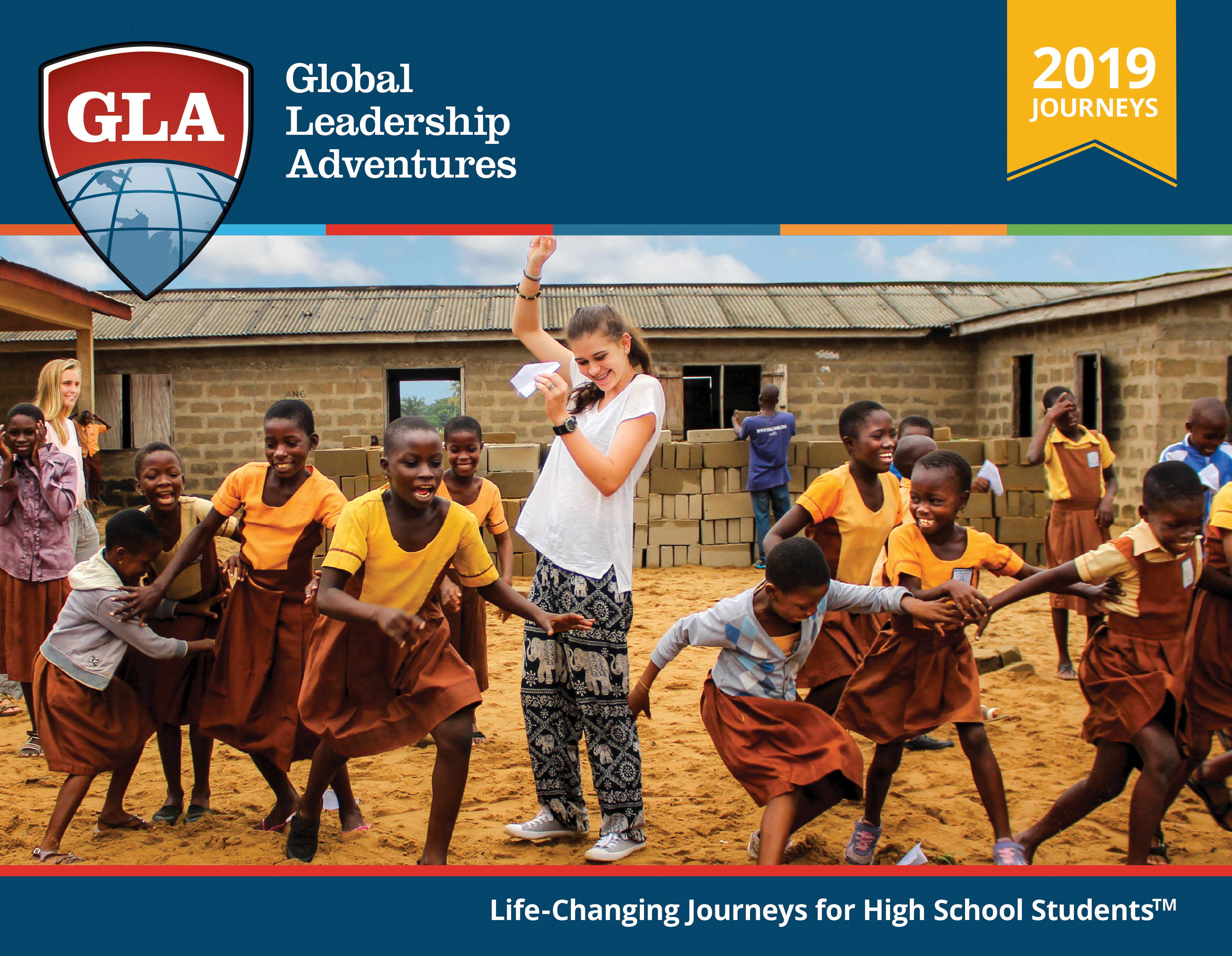 Catalog with Peace Corps inspired trips for teens from GLA